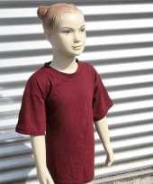 Goedkope kinder t shirt bordeaux rood