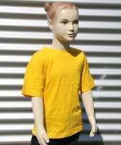 Goedkope kinder t shirt goud geel