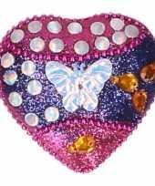 Goedkope kinder tanden doosje vlinder roze blauw