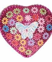 Goedkope kinder tanden doosje vlinder roze bloemetjes