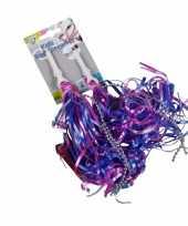 Goedkope kinderfiets handvat versiering slierten paars