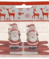 Goedkope knijper kerstman ster stuks