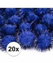 Goedkope kobalt blauwe knutsel pompons mm