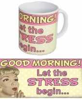 Goedkope koffie mok good morning