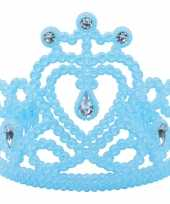Goedkope koninginnen prinsessen tiara blauw