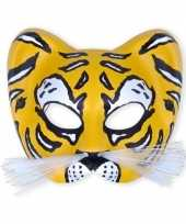 Goedkope kunstof oogmasker tijger