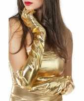 Goedkope lange gouden handschoenen dames
