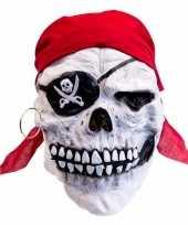 Goedkope latex horror masker doodskop piraat