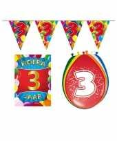 Goedkope leeftijd feestartikelen jaar voordeel pakket 10113421