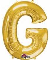 Goedkope letter g ballon goud
