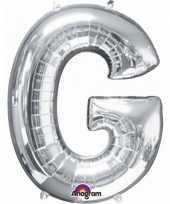 Goedkope letter g ballon zilver