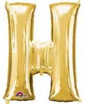 Goedkope letter h ballon goud