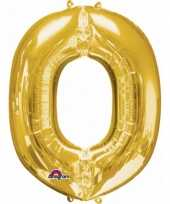 Goedkope letter o ballon goud