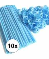 Goedkope lichtblauwe ballonstaafjes stuks 10099526