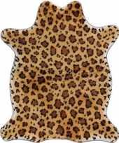Goedkope luipaard nep dierenvel kleed plaid