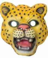 Goedkope luipaard panter verkleed dierenmasker kinderen