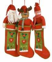 Goedkope luxe kerstsok kerstman 10051777