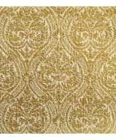 Goedkope luxe servetten barok motief goud laags stuks