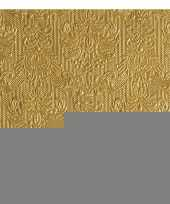 Goedkope luxe servetten barok patroon goud laags stuks