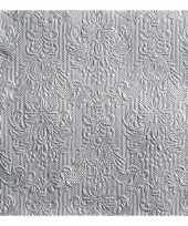 Goedkope luxe servetten barok patroon zilver laags stuks