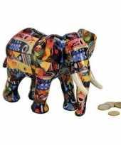 Goedkope luxe spaarpot olifant blauw keramiek