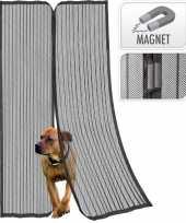 Goedkope magnetische insecten deur hor gordijn zwart