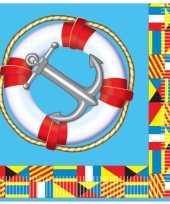Goedkope marine thema servetten stuks