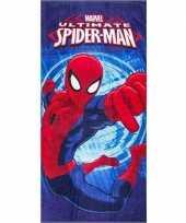 Goedkope marvel spiderman badlaken strandlaken blauw