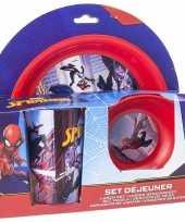 Goedkope marvel spiderman ontbijtset kinder servies