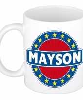 Goedkope mayson naam koffie mok beker