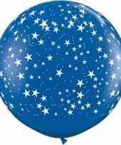 Goedkope mega ballon sterren blauw