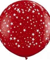 Goedkope mega ballon sterren rood