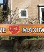 Goedkope mega banner we love maxima