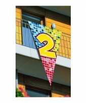 Goedkope mega decoratie vlag jaar