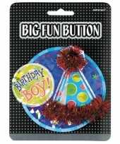 Goedkope mega verjaardag button birthday boy