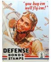 Goedkope metalen wandplaat defense bonds stamps