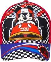 Goedkope mickey mouse pet cap rood kinderen