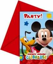 Goedkope mickey mouse uitnodigingen stuks
