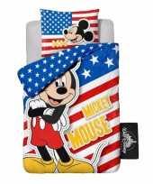 Goedkope mickey mouse usa dekbedovertrek jongens