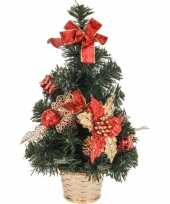 Goedkope mini kerstboom rode decoratie 10065435