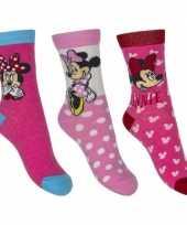 Goedkope minnie mouse meisjes sokken pak roze