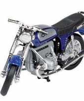 Goedkope model speelgoed motor bmw r blauw