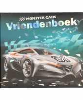 Goedkope monster cars vriendenboekje zilveren auto