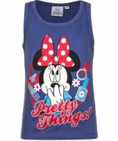 Goedkope mouwloos minnie mouse t shirt blauw