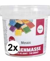 Goedkope mozaiek voegmiddel wit gram 10135064