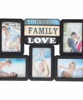 Goedkope multi zwarte fotolijst family love