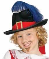 Goedkope musketiers hoed veer kinderen