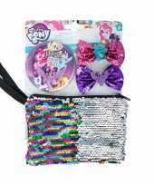 Goedkope my little pony toilettas set haarclips spiegel