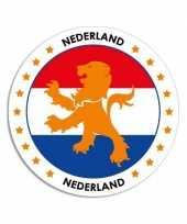 Goedkope nederland sticker rond