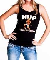 Goedkope nederland supporter tanktop hup leeuwinnen zwart dames 10151682